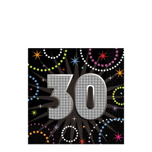 Time To Party 30 Beverage Napkins- 16ct