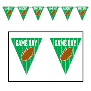 Game Day Football Pennant Banner- 12ft