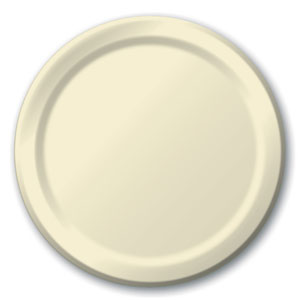Ivory 9 Inch Plates