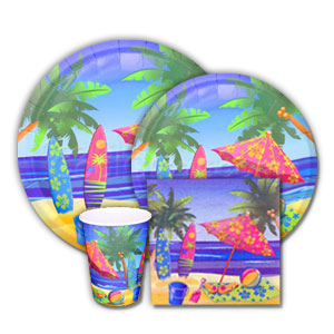 Beach Surf Complete Tableware Pack
