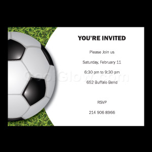 Turf Soccer - Custom Invitations