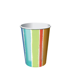 Sunshine Stripes 9 oz. Cups- 8ct