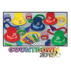 Countdown 2013 Party Kit for 10