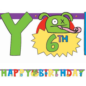 Ugly Doll Add-An-Age Letter Banner-10ft