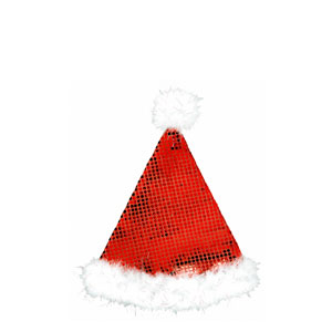 Sequined Plush Santa Hat- 13 Inch
