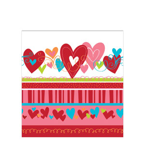 Happy Heart Plastic Tablecover
