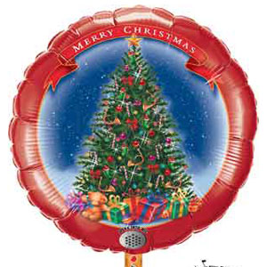 Merry Christmas Tree Foil Balloon - 32 Inch