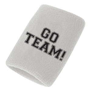 Go Team Sweatbands - White