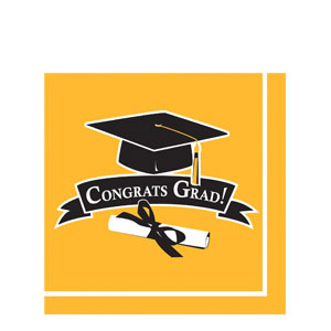 Grad Luncheon Napkins - Yellow