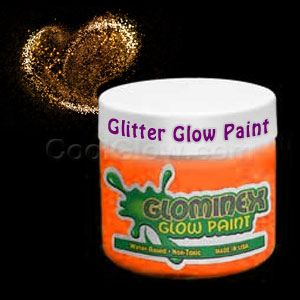 Glominex Glitter Glow Paint Pint - Orange