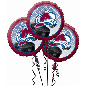 Colorado Avalanche 3 Pack Balloons- 18in
