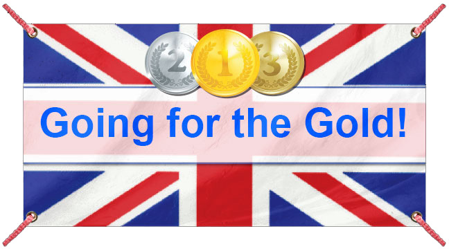 British Olympic Flag - Custom Banner