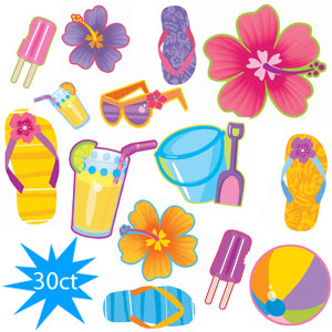 Summer Cutout Assortment- 30ct