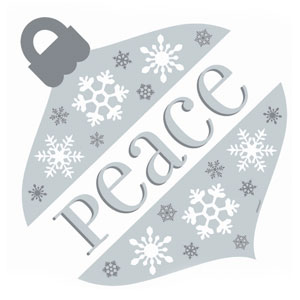 Peace Ornament Cutout- 12 Inch