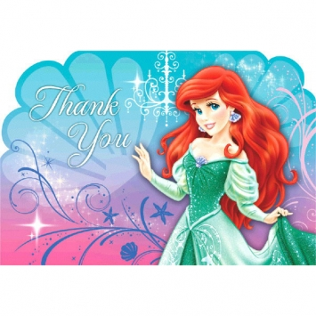 Disney Ariel Thank You Cards
