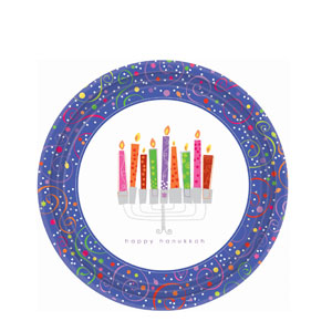 Playful Menorah 10.5 Inch Plates