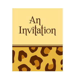 Leopard Print Invitation- 8ct
