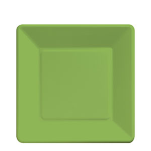 Citrus Green Square 7 Inch Plates