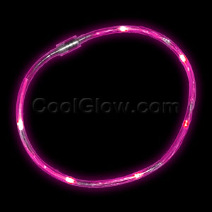 LED Light Chaser Necklace - Pink
