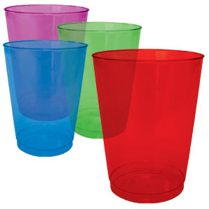 Assorted Color Plastic Tumblers- 10oz. 40ct