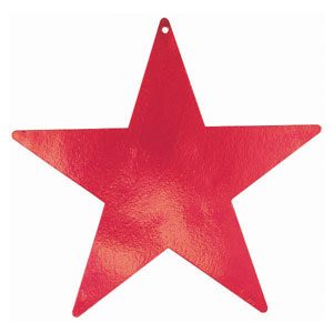 Red 15 Inch Star Cutouts- 5ct