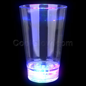 Fun Central AD000 LED Light Up 12oz Glass - Multicolor