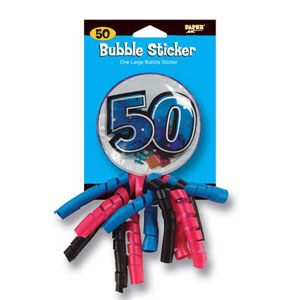 50th Bubble Sticker Badge