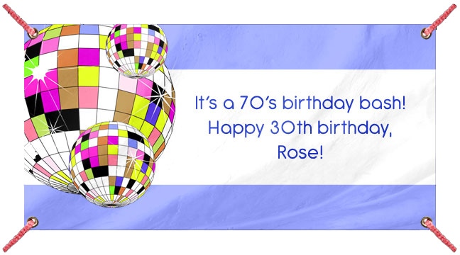 Colorful Disco Balls - Custom Banner