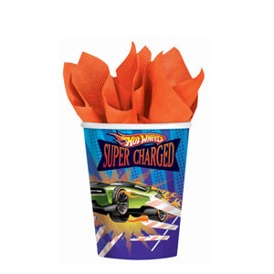 Hot Wheels 9 oz. Cups- 8ct