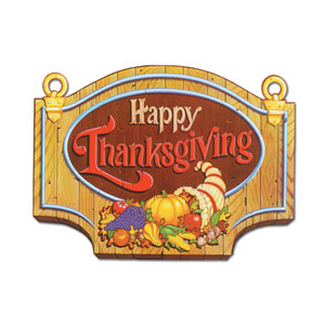 Happy Thanksgiving Sign 1 - 18 inch