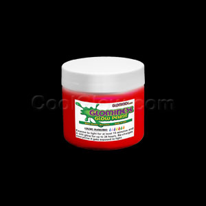 Glow Body Paint 4 oz Jar - Red