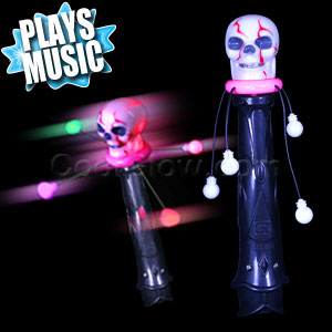 LED Skull Spinner Wand