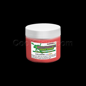 Glominex Glow Paint 4 oz Jar Red