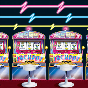 Slot Machine  Neon Lights Backdrop- 30ft