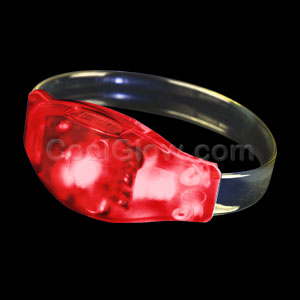 LED Sound Activated Wristband - Red
