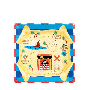 Pirate's Treasure 7 Inch Plates- 8ct