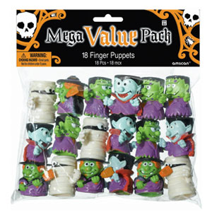 Halloween Monster Finger Puppets- 18ct