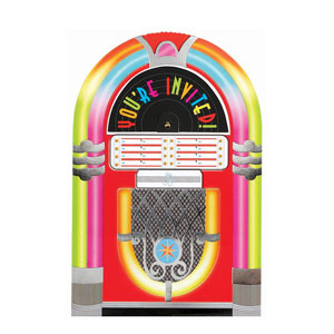 Juke Box Large Novelty Invitations- 8ct