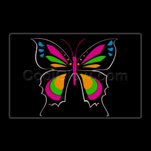 LED Sound Activated Patch - Butterfly