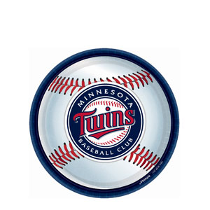 Minnesota Twins 9 Inch Plates- 18ct