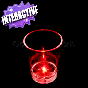 LED Rolling Dice Shot Glass with Noise