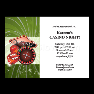 Casino Night - Custom Invitations
