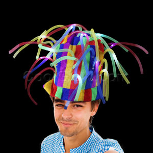 Fun Central AD157 LED Light Up Noodle Hat - Multicolor