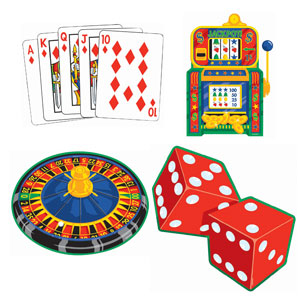Casino Cutout Assortment Pack- 4ct