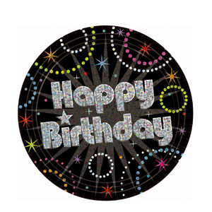 Time to Party 9 Inch Prismatic Plates- 8ct