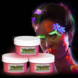 Glominex Glow Body Paint 2oz Jar - Pink