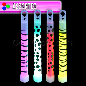 Animal Print 6 Inch Glow Sticks - Assorted