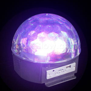 Fun Central AD139 LED Light Up Crystal Ball Projector with Music Player