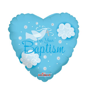Boy Baptism Dove Balloon- 18in