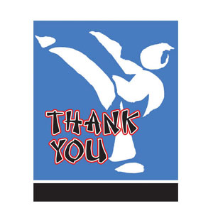 Black Belt Thank You Cards- 8ct
